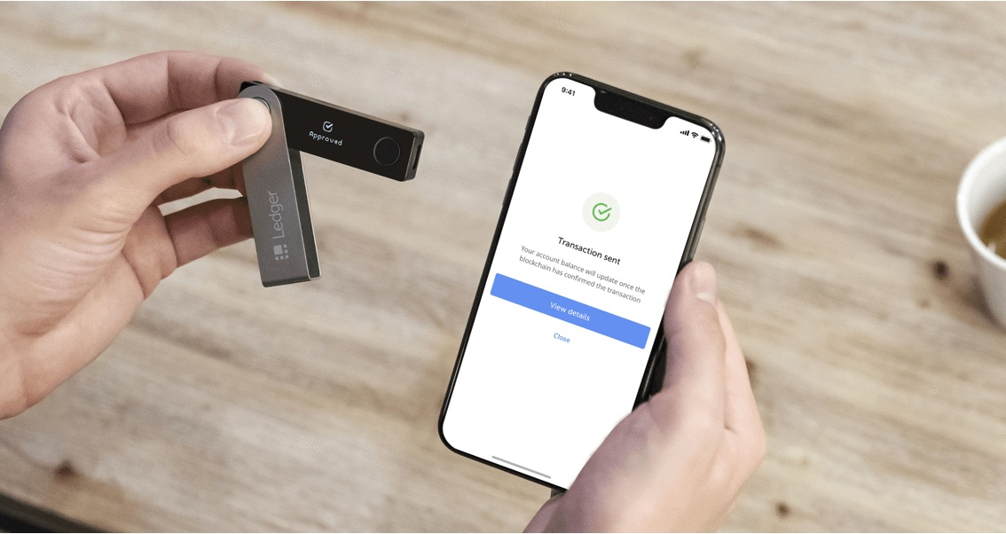 портфейл за криптовалути ledger nano x - bluetooth транзакция