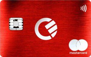 curve premium red metal card