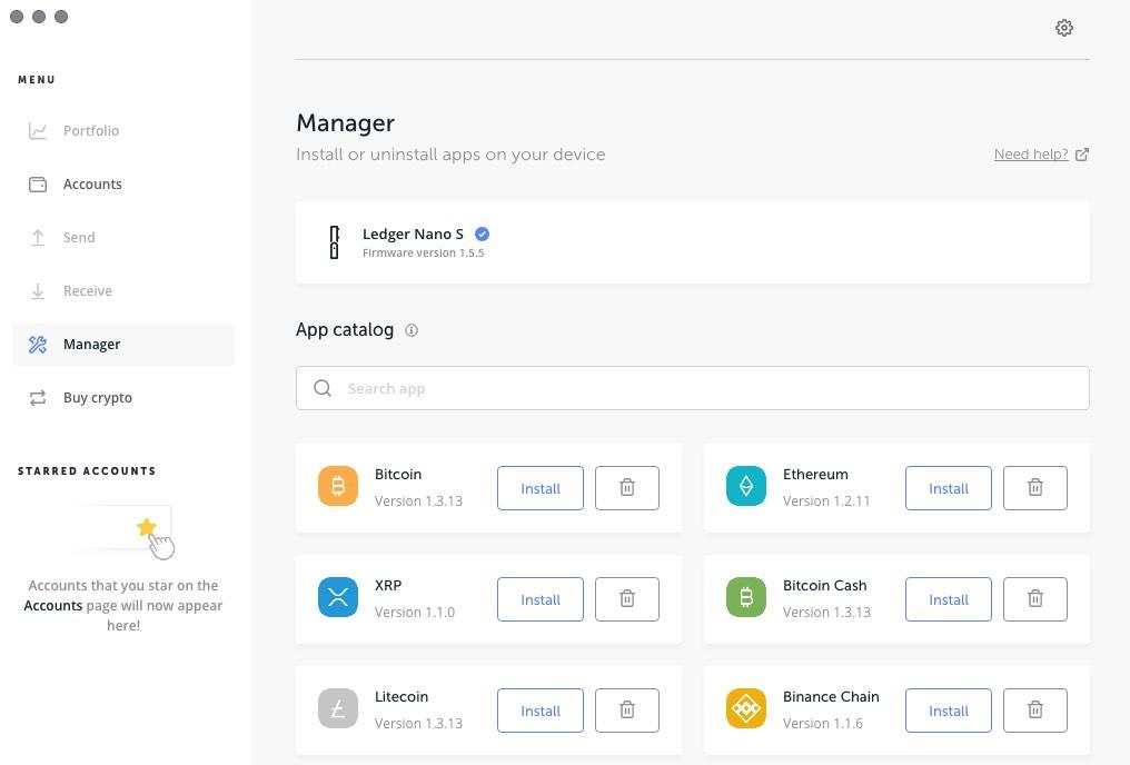 управление на приложенията за портфейла ledger чрез ledger live manager